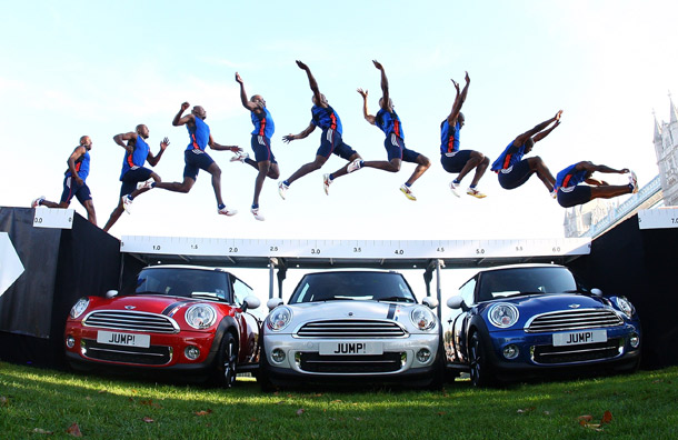 J.J. Jegede Jumping Over Three Minis