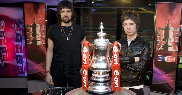 FA Cup Draw with Serge from Kasabian and Noel Gallagher