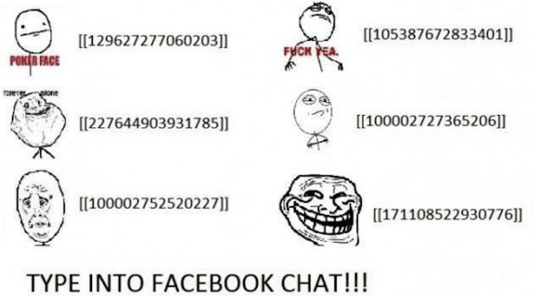 rage icons facebook chat