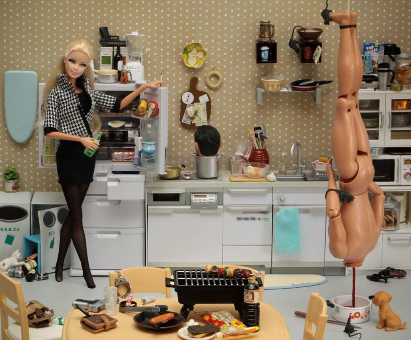 Barbie used as dildo