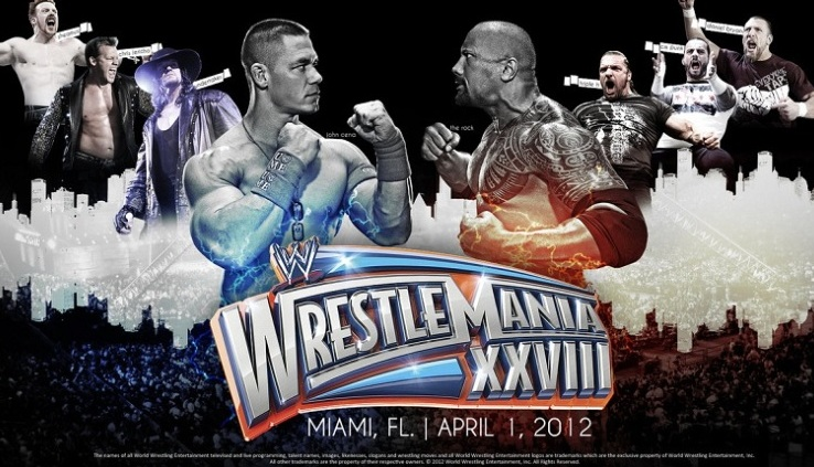 Rock vs. Cena. Once In A Lifetime, End of An Era, Miami, Florida, CM Punk, Undertaker, Triple H, Shawn Michaels, Daniel Bryan, Sheamus, Team Teddy, Team Johnny, Divas, Maria Menounos