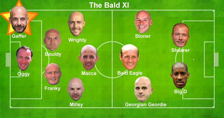 The Bald Premiership XI