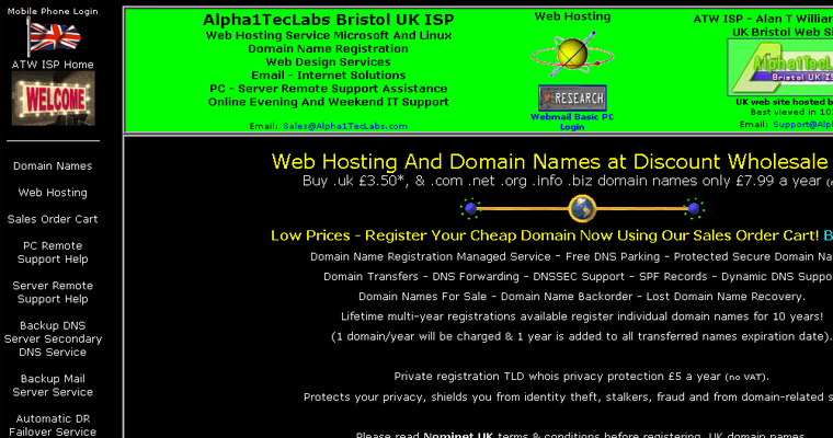 Alpha1 Tech Labs website
