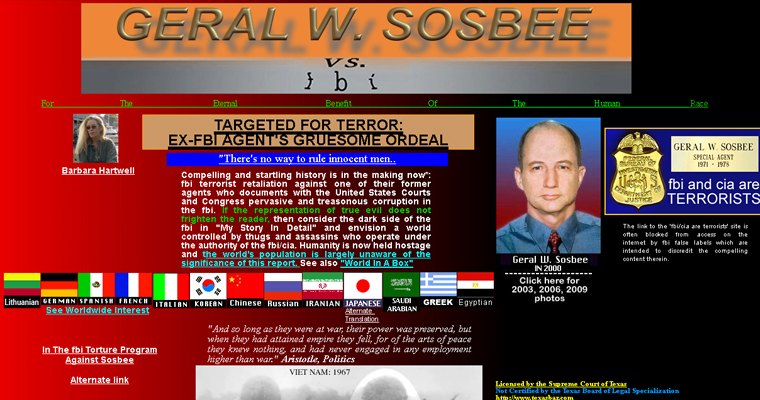 Sosbee vs FBI website