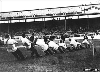 1908 Olympics - Tug of War