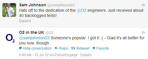 4th Genius Customer Service Response from O2