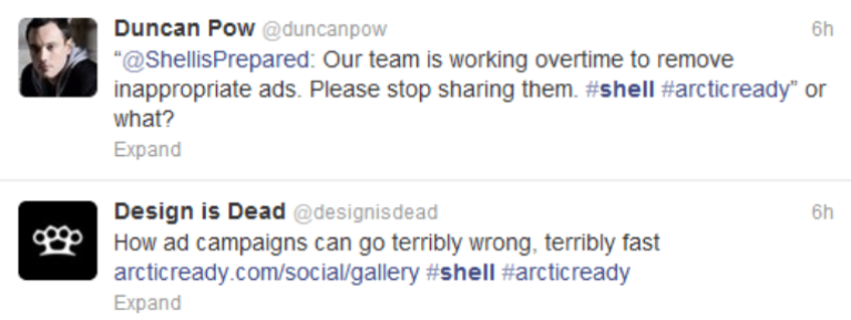 Twitter abuse for Shell PR disaster
