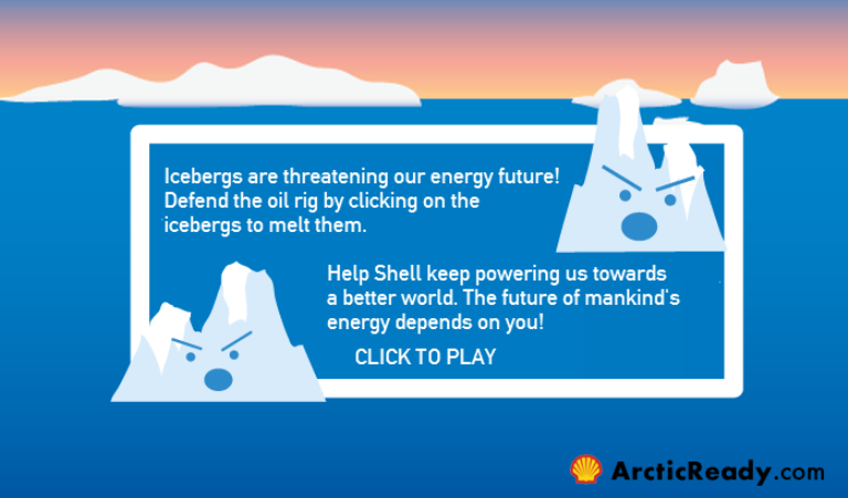 Shell4 defeat the threatening icebergs
