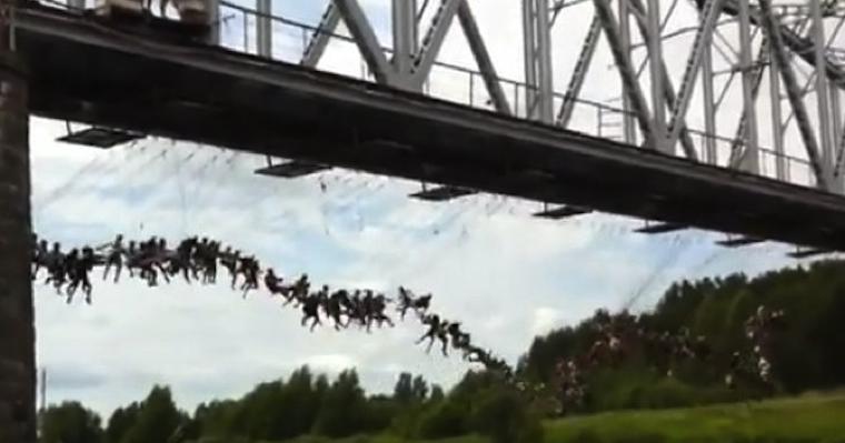 Russian Mass Bungee Jump