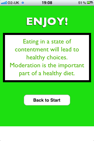 Happy Diet - Yes End Screen - iPhone