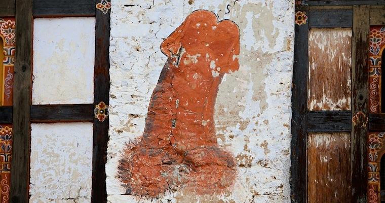 Bhutan Phallus House Symbol