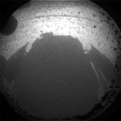Curiosity first image