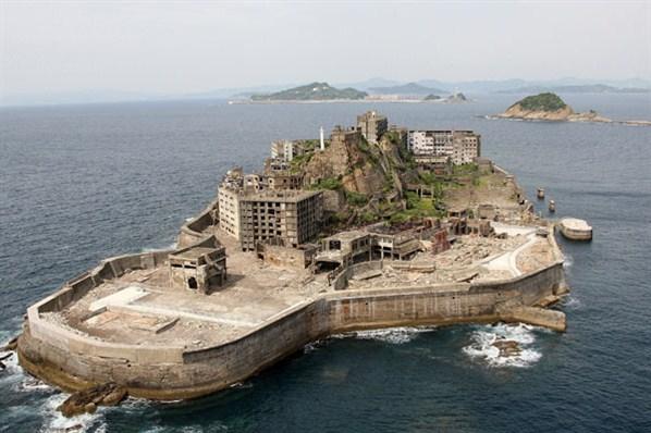 Hashima Battleship Island - From Above 2