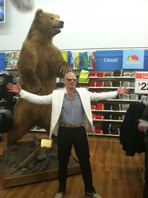 Pitbull With A Bear
