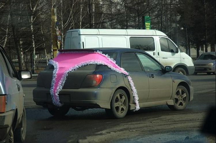 Russian Underwear Car