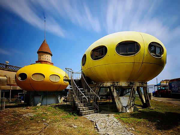Sanzhi UFO houses - Blue Sky