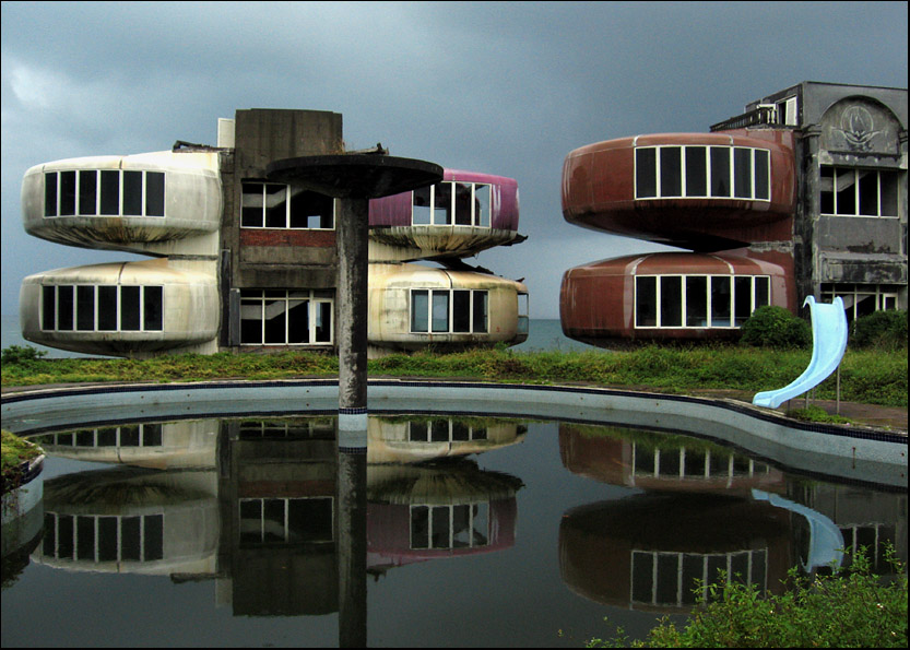 Sanzhi UFO houses - Still Water Storm