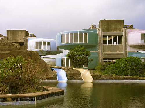 Sanzhi UFO houses - Two Water Slides