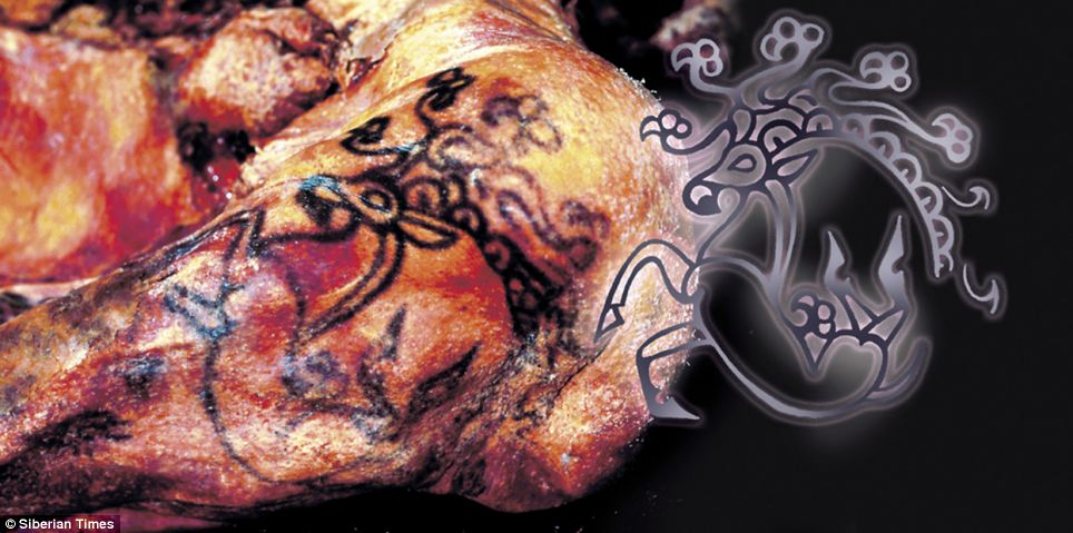 Siberian Princess Ukok Tattoo 2500 years old