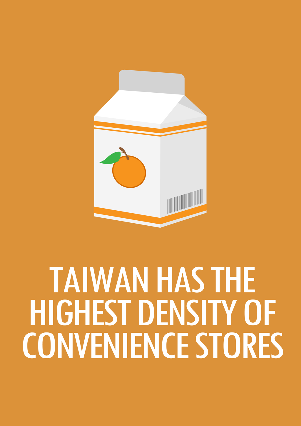 Tawain Highest Density Convenience Stores
