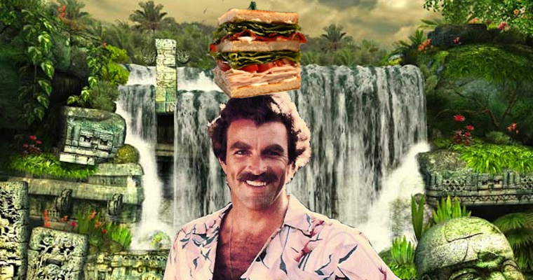 Tom Selleck Waterfall Sandwich