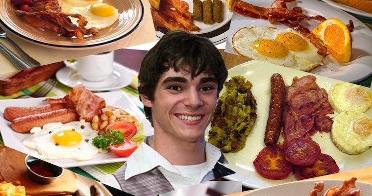 Walt Jr Eating Breakfast