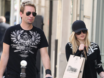 avril Lavigne Chad Kroeger shopping