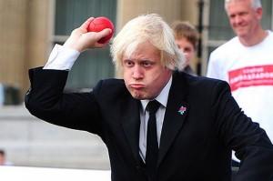 Boris enjoying himself with a red ball.
