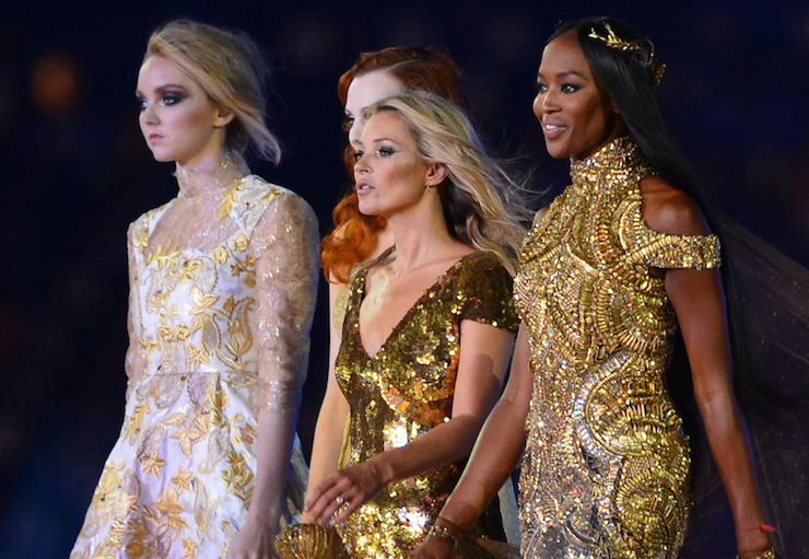 supermodels olympic closing ceremony