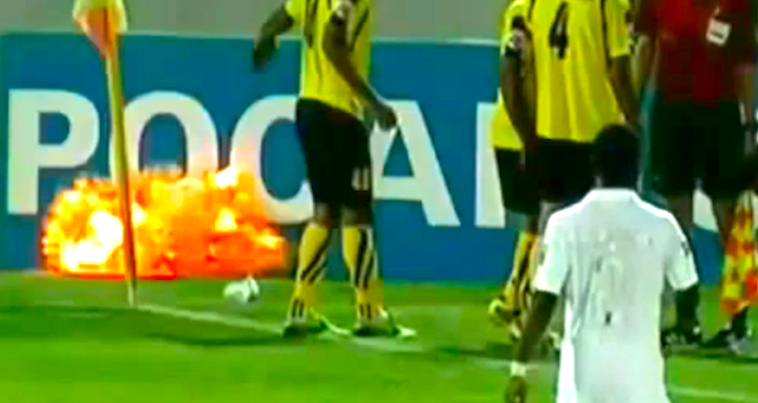 Grenade on Football pitch