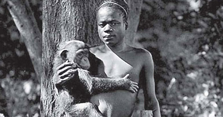 Ota Benga - With Chimpanzee