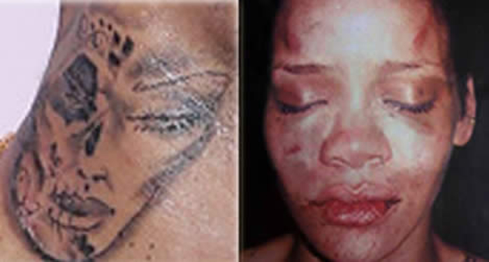 Rihanna Chris Brown Neck Tattoo