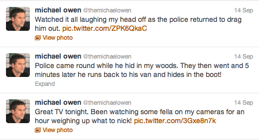 Michael Owen Live Tweets