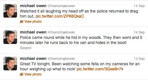 Michael Owen Live Tweets