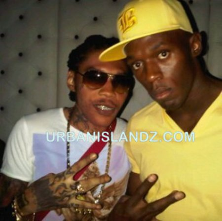 Vybz Kartel with Usain Bolt