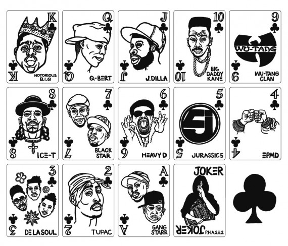 hip hop playing cards clubs