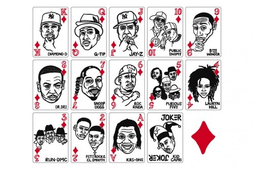 hip hop playing cards diamonds