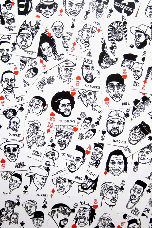 hip hop playing cards long