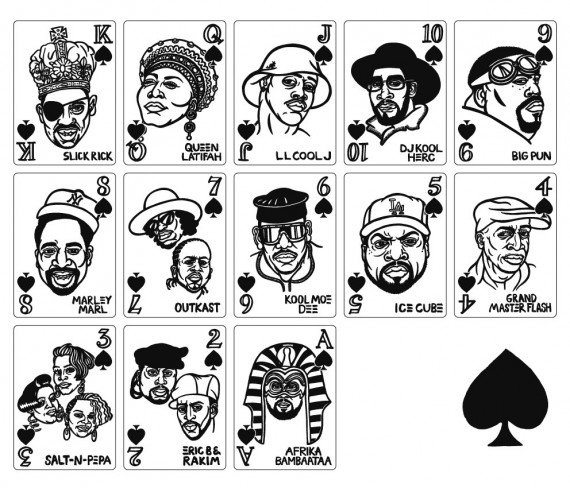 hip hop playing cards spades