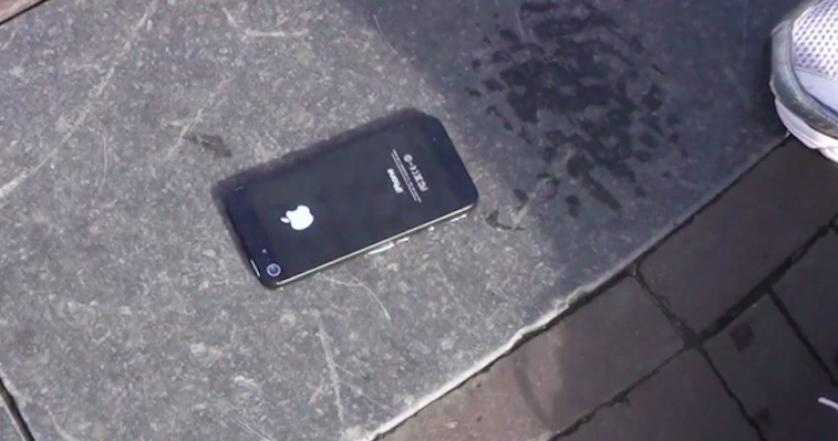 iphone 5 glued to ground