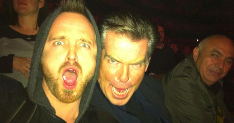 Aaron Paul Pierce Brosnan