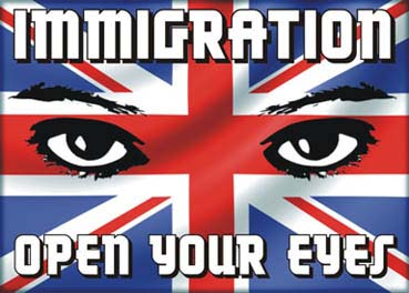 BNP Poster - Immigration - Open Youre Eyes