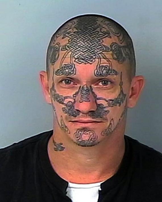 White Power Tattoos Mugshot tattoo 3 white power
