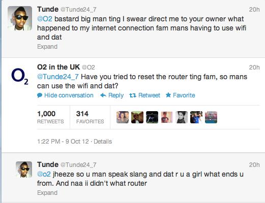 O2 Racist Twitter