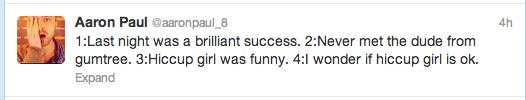 Aaron Paul Radiohead Tweets 2