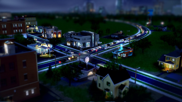 Simcity 2013 Night Traffic