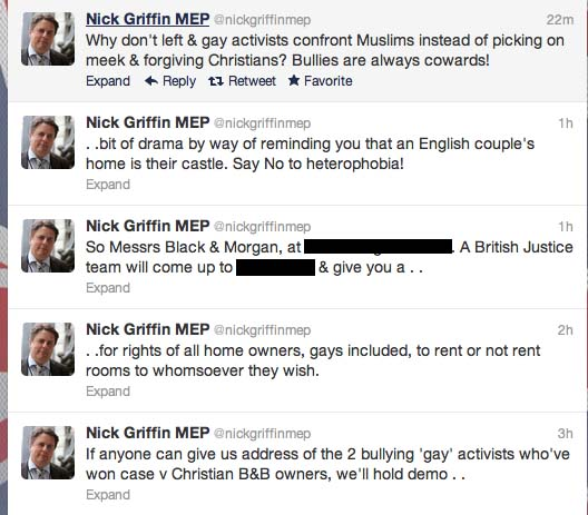 nick griffin twitter feed
