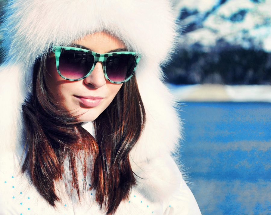 sunglasses in winter