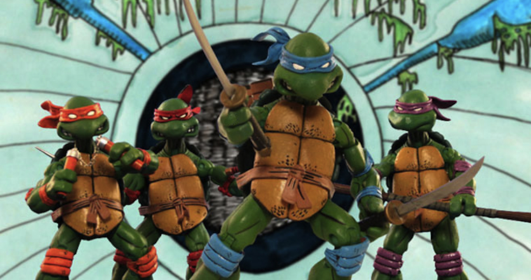 teenage mutant ninja turtles stop motion