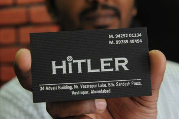 Hitler Shop India Business Card